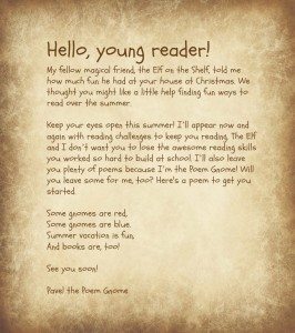 Poem Gnome: Welcome Letter