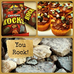 """""""You Rock"""" Cupcakes"""