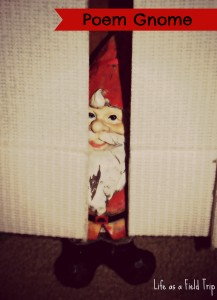 Poem Gnome in Hiding: Summer Reading Fun