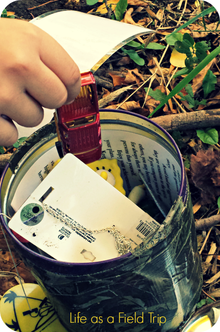 Take One Leave One Geocache  Life as Field Trip