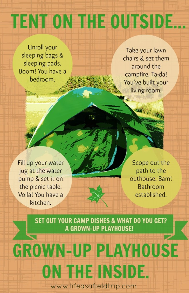tents and camping as play