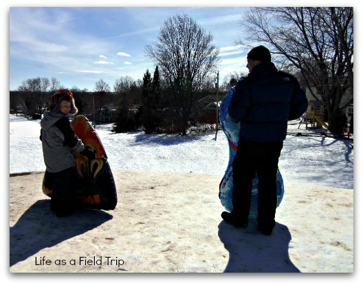 6 Great Winter Outings in Northeast Wisconsin Sledding {Life as a Field Trip}