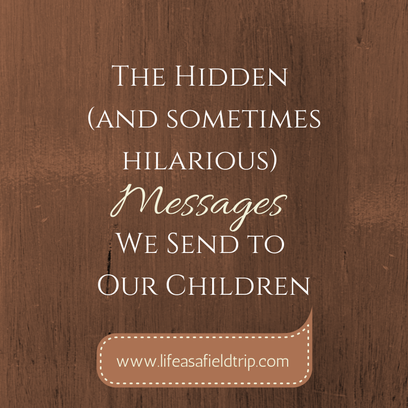 Hidden Messages We Send OUr Children [Life as a Field Trip}