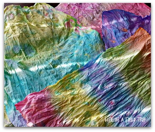 tie dye paper napkins {Life as a Field Trip}