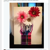 How to Rock Christmas Crayon Art with Poinsettias and a Hair Dryer