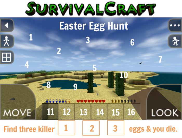 Survivalcraft Easter Egg Challenge {Life as a Field Trip}
