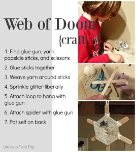 Web of Doom Halloween Craft