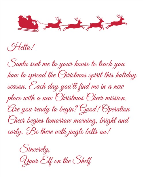 elf on the shelf arrival letter on the shelf archives as a field trip 50888